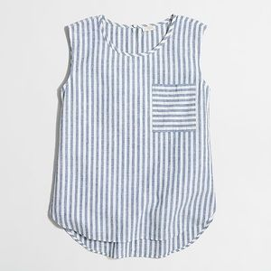 J. Crew Striped shell top
